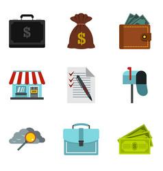 Monetary encouragement icons set cartoon style vector