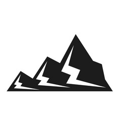 mountain black icon snow and landscape symbol vector image