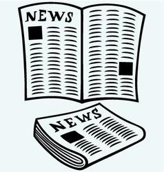 Newspaper news vector image