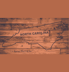 North carolina map brand vector