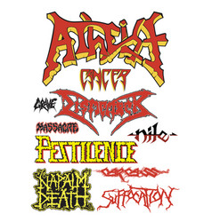 Old school death metal vector