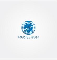 Olive icon templatecreative logo design element vector