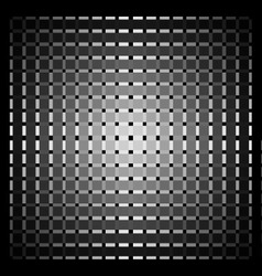 Optical art grid in black and grey with white dots vector image