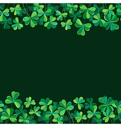 pattern clover borders vector image