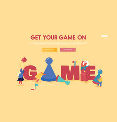 people characters playing board or tabletop games vector image