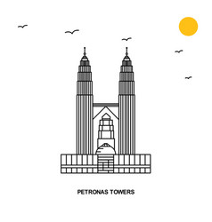 petronas towers monument world travel natural vector image