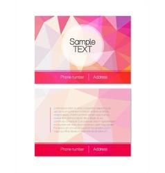 pink modern flyer vector image
