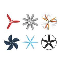 propeller fan fan vector image