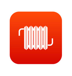 radiator icon digital red vector image