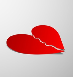 red heart Stock vector image