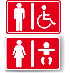 Restroom men women baby handicapped vector