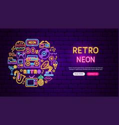 retro neon banner design vector image