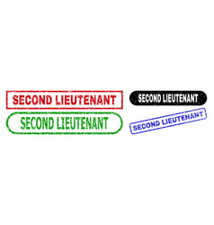 Second lieutenant rectangle watermarks with vector