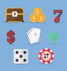 Set of Gambling Slot Machine Icons vector image