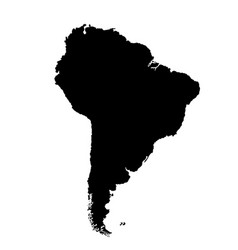 Southern america map silhouette vector