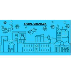 spain granada winter holidays skyline merry vector image