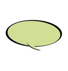 speech bubble chat communicate comic vector image