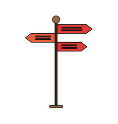 street signpost isolated vector image