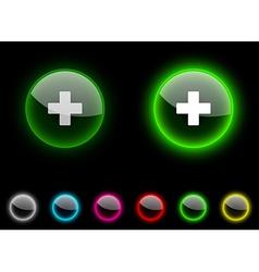Switzerland button vector image