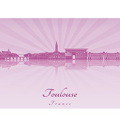 Toulouse skyline in purple radiant orchid vector