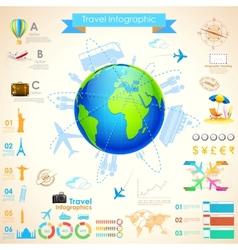 Travel infographic chart vector