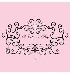 Vintage Frame Valentines Day vector image