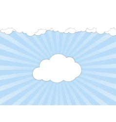 White clouds over blue sky vector image