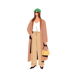 Woman wearing casual fashion clothes vector