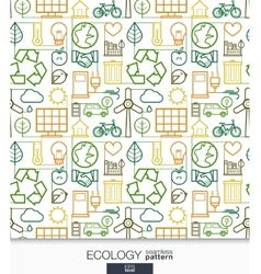 Ecology wallpaper Green energy connected seamless vector image