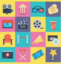 film icons set vector image