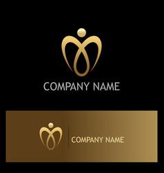 love luxury gold valentine logo vector image
