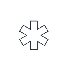 medical sign thin line icon linear symbol vector image