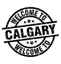 welcome to calgary black stamp vector image vector image