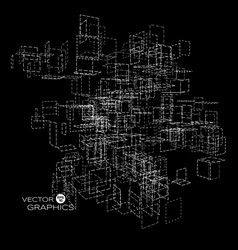 abstract architect vector image