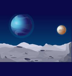 lunar landscape with vector image