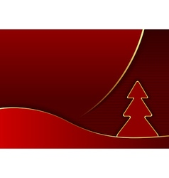 Modern Red Abstract Christmas vector image vector image
