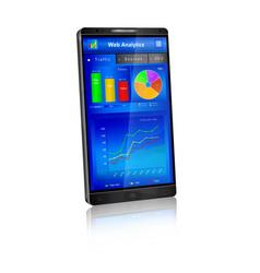 web analytics application on smartphone screen vector image vector image