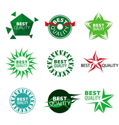 collection of icons best quality vector image vector image