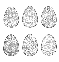 Easter egg set vector image