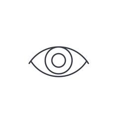 eye thin line icon linear symbol vector image