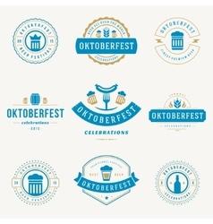 Labels badges and logos set Beer festival vector image