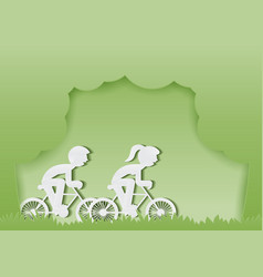 ride bike vector image vector image