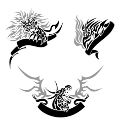 tattoo with templates vector image