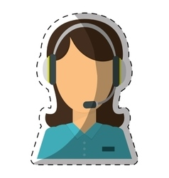technical assistant icon image vector image vector image