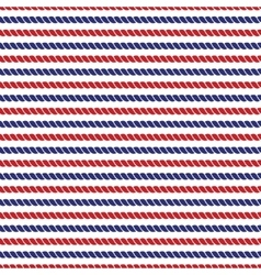 Striped navy and red ropes bright seamless vector image vector image