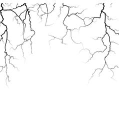 Thunder bolts frame in black white vector image vector image