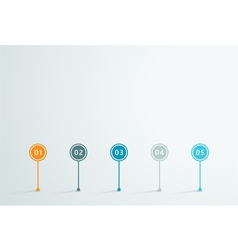 Timeline 3d Infographic 1 vector image vector image