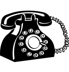 Vintage telephone vector image vector image