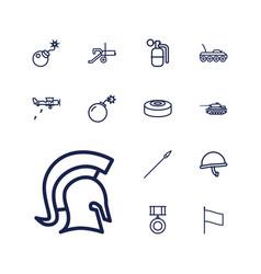 13 war icons vector