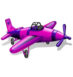 A lavender vintage plane vector
